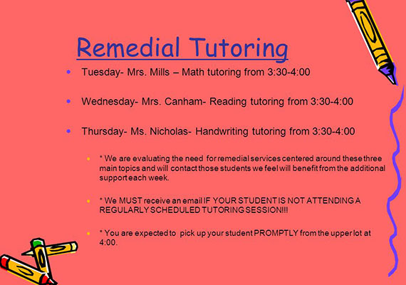 What you need to know about remedial tutoring!