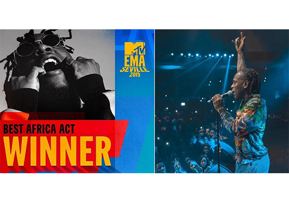 Burna Boy, Best Africa Act award at the 2019 MTV EMA's