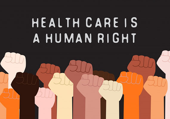 The right to health care for all!